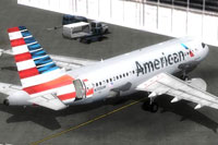 Screenshot of American Airlines Airbus A319 CFM on the ground.