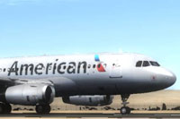 Screenshot of American Airlines Airbus A319 IAE on the ground.