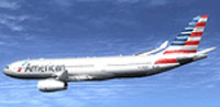 Screenshot of American Airlines Airbus A330-200 RR in flight.