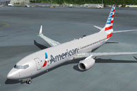 Screenshot of American Airlines Boeing 737-800 in American Airlines new livery.