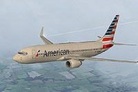 Screenshot of American Airlines Boeing 737-800 in flight.