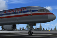 Close up view of American Airlines Boeing 757-200.