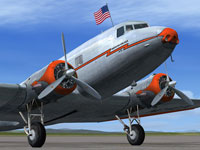 Screenshot of American Airlines Douglas DC-2 on the ground.