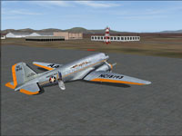 Screenshot of American Airlines Douglas DC-3 on the ground.