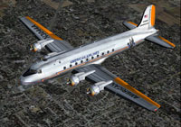 Screenshot of American Airlines Douglas DC-4 in the air.