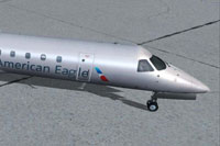Screenshot of American Eagle Embraer ERJ-145LR on the ground.