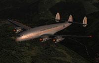 Screenshot of American Overseas Airlines L049 in flight.