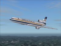 Screenshot of American Trans Air Lockheed L-1011 in flight.