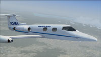 Screenshot of Ameriflight Learjet 23 in flight.
