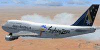 Ansett Australia Boeing 747-400 in Sydney 2000 livery.