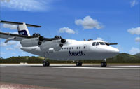 Screenshot of Ansett DHC Dash-7 on runway.