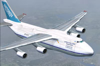 Screenshot of Antonov An-124 in flight.