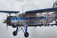 Screenshot of Antonov An-2 SP-DLA in flight.
