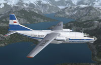 Screenshot of Antonov An-8 in flight.