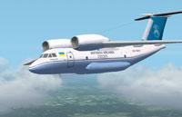 Screenshot of Antonov Virtual Airlines An-74 in flight.