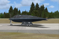 Screenshot of Area 51 B-2 Spirit on runway.