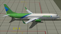 Screenshot of Arrow Cargo Boeing 737-900F on the ground.