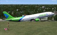 Screenshot of Arrow Cargo VA Airbus A300-600F in flight.