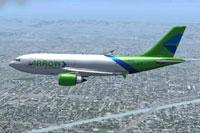 Screenshot of Arrow Cargo VA Airbus A310-300F in flight.