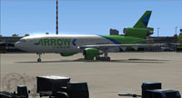 Screenshot of Arrow Cargo VA Douglas DC-10-30F on the ground.