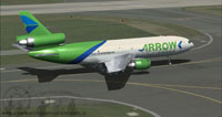 Screenshot of Arrow Cargo VA Douglas DC-10-40F taxiing to runway.