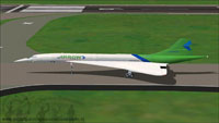 Screenshot of Arrow Cargo Virtual Airlines Concorde taxiing to runway.