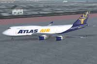 Screenshot of Atlas Air Boeing 747-400BCF on the ground.