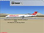 Splash Screen showing AtlasJet landing.
