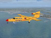 Screenshot of Aurigny Trislander G-JOEY in flight.