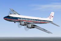 Screenshot of Australian National Airways DC-6 in flight.