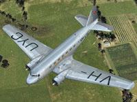 Screenshot of Australian National Airways Douglas DC-2 in flight.