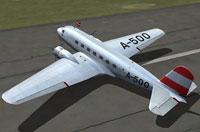 Screenshot of Austrian Government Douglas DC-2 on the ground.