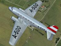 Screenshot of Austrian Government Douglas DC-2 in flight.