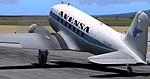 Screenshot of Avensa Douglas DC-3 on runway.