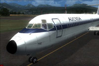 Screenshot of Avensa Douglas DC-9-30 on runway.