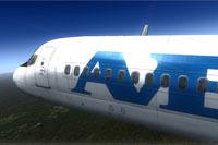 Screenshot of Avensa Douglas DC-9-30 in flight.