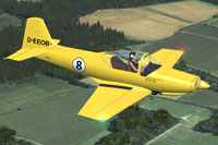 Screenshot of Aviamilano F.8L Falco II in flight.