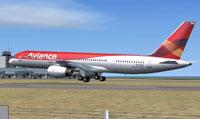 Screenshot of Avianca Boeing 757-200 RR taking off.