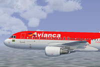 Screenshot of Avianca Brazil Airbus A320-214 in flight.