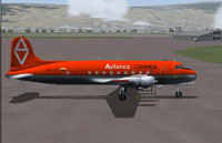 Screenshot of Avianca Douglas DC-4 HK-1027 on the ground.
