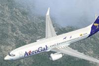 Screenshot of Boeing 737-800 in flight.