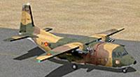 Screenshot of C212 Aviocar 37-18 on runway.