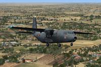 Screenshot of C212 Aviocar 37-18 in flight.