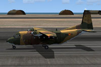 Screenshot of C212 Aviocar 46-31 Camo on runway.