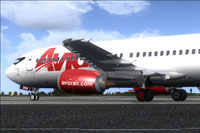 Screenshot of Avior Airlines Boeing 737-400 on the ground.