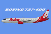 Side view of Avior Airlines Boeing 737-400.