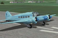 Screenshot of Avro 19 Srs 2 G-AGWE on runway.