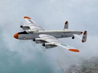 Screenshot of Avro Lancastrian Fuerza Aerea B-022 in flight.