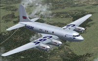 Screenshot of Avro Tudor in flight.