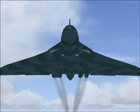 Screenshot of Avro Vulcan in flight.